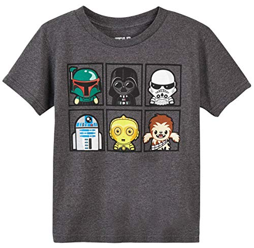 (Star Wars Boys' Original Characters Cartoon T-Shirt (4, Small) Charcoal Heather)