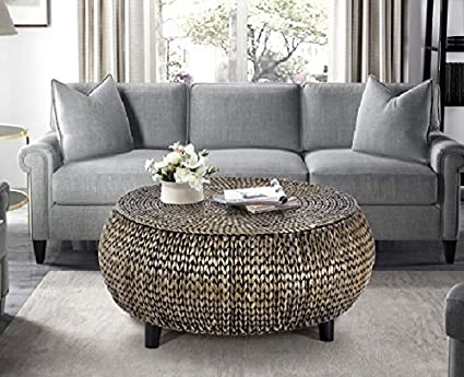 aeee8f6ad383 Image Unavailable. Image not available for. Color  Round Breeze Coffee Table  With Storage Area Side Table With Décor End ...