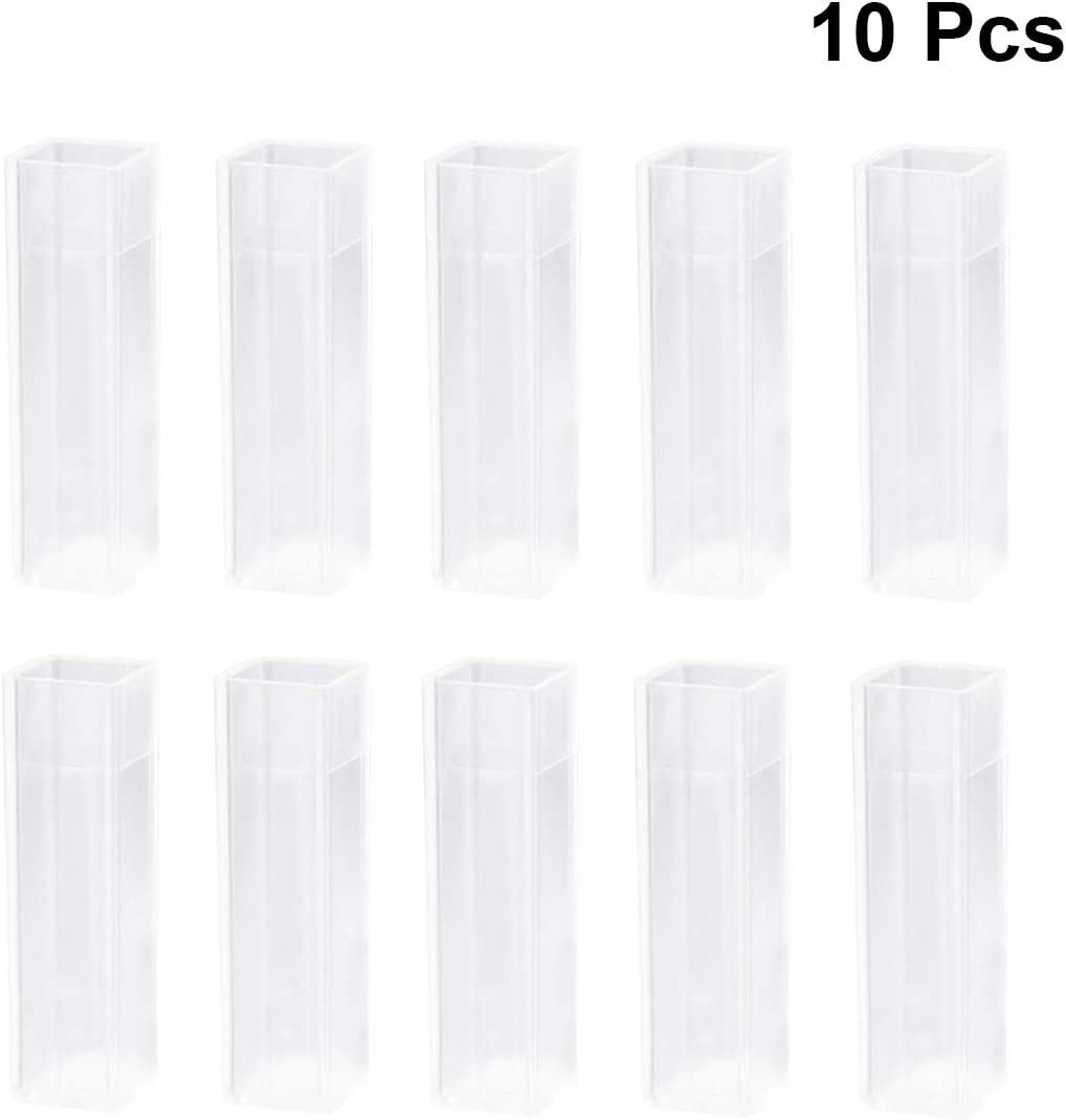 UKCOCO Cubeta de poliestireno desechable de plástico 10PCS 4.5ML (transparente)