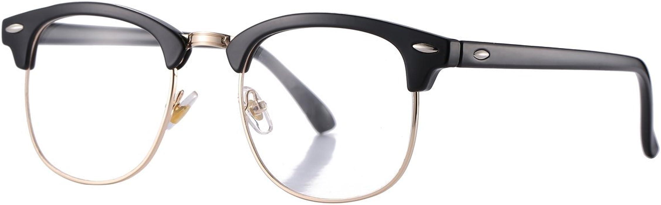 83503f68dc0 Pro Acme (Pack of 2) Semi Rimless Polarized Clubmaster Sunglasses for Men  Women (