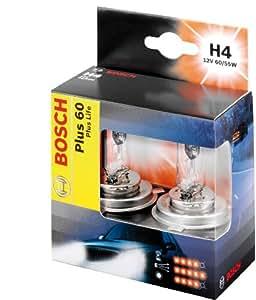 Bosch Plus 60 Plus Life - Bombilla H4 (12 V, 55 W, 2 unidades)