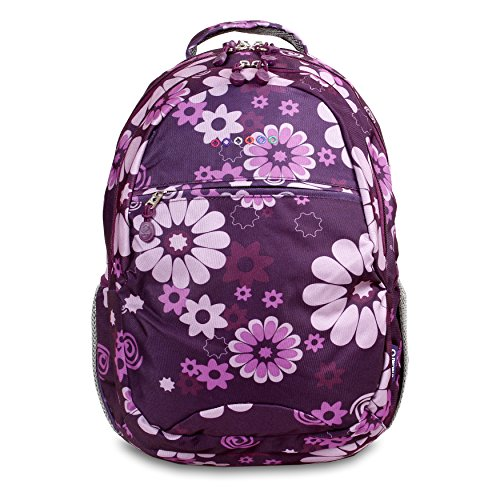 J World New York Cornelia Backpack, Purple Flower, One Size