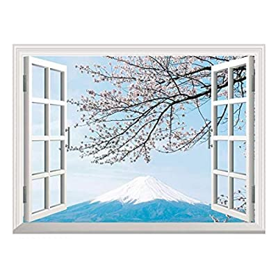 Removable Wall Sticker Wall Mural Mt Fuji with...