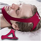 EasySleep Pro Adjustable Stop Snoring Chin Strap (Red)