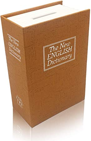 BOOKSAFEBOX Caja Fuerte De Libros Caja De Caudales Camuflada Caja Fuerte Portátil Caja De Seguridad En Forma De Libro Caja Fuerte Portátil,Yellow: Amazon.es: Hogar