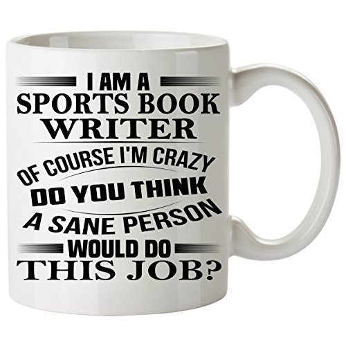 SPORTS BOOK WRITER Mug 11 Oz - SPORTS BOOK WRITER Gifts - Unique Coffee Mug, Coffee Cup (Sports Book Manager Costume)