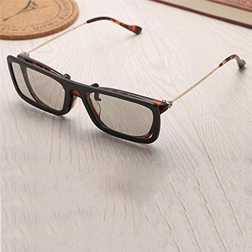 Square Polarized 3D Glasses,Myopia Clip Lens Circular Polarized Glasses for TV, Projectors, Monitors, Tablets, Mobile phones