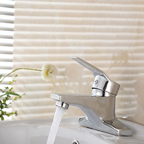 YI YA YA - Basin faucet Hot and cold faucet Washbasin faucet Hot and cold hand basin Single handle double hole faucet