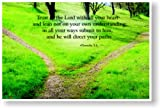 Trust in the Lord with All Your Heart - Proberbs 3:5 - Bible Poster
