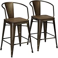 247SHOPATHOME IDF-3529PC Dining-Chairs, Natural Elm