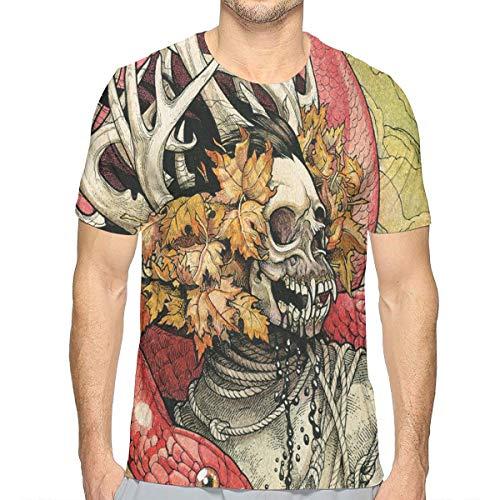 Dolores Marguerite Skeletonwitch Black Thrash Metal Heavy Men's Short Sleeve T-Shirt Leisure and Novelty