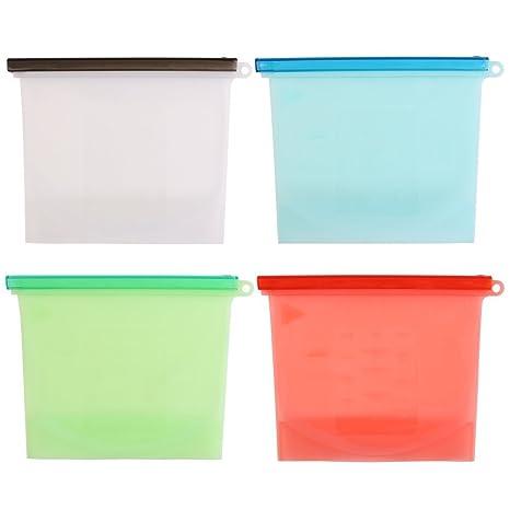 Bolsa de silicona para almacenamiento de alimentos, 1000 ml ...