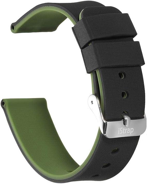 Amazon.com: Correa de silicona para reloj (doble cara + 2 ...