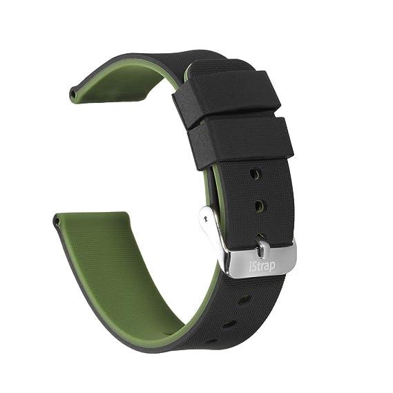 Correa de Reloj de Silicona(Doble Cara+2hebillas+4lazos) iStrap de Goma