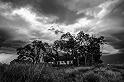 Abandoned House Print Black and White Décor Rural Artwork Homestead Picture Farm Art Country Living Photography