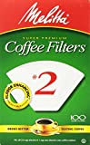 2 filter coffee - Melitta Cone Coffee Filters, White, No. 2, 100 count