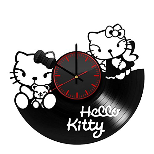 Hello Kitty Fun Design Vinyl Record Wall Clock