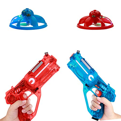 Infrared Tag Blaster as a Remote Control Drone, Infrared Guns Set with Quadcopters, Top Saucer Toys 2019, Toy Guns for Boys, Christmas Toys 2019, Flying Toys for Kids 3+, Teen Games, Red & Blue (Teen Gifts 2019 Christmas)