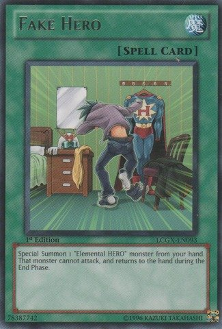 Yu-Gi-Oh! - Fake HERO (LCGX-EN093) - Legendary Collection 2 - 1st Edition - Rare