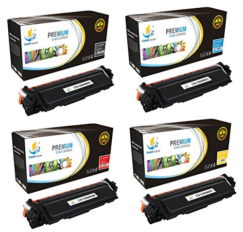 Catch Supplies 046H 4 Pack Premium Replacement Toner Cartridge 046HK 046HC 046HY 046HM Compatible with Canon Color ImageCLASS MF731Cdw, MF733Cdw, MF735Cdw, LBP654Cdw |Black, Cyan, Magenta, Yellow