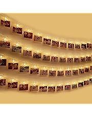 LED Foto Clip Stringa Illuminazione , otumixx 40 Foto Clips Luci di Stringa 4,2m Batteria Alimentato Caldo Bianco LED Immagine Illuminazione per Casa, Matrimonio, Festa di Compleanno