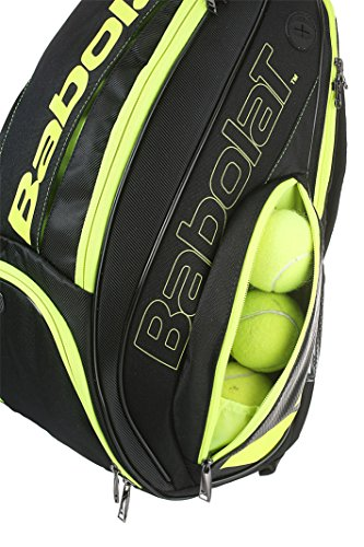Babolat Pure Black/Fluo Yellow Backpack Bag by Babolat (Image #3)