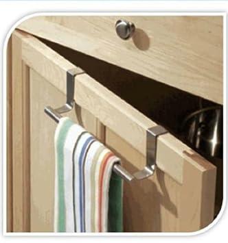 Toyonee Colgador para cocina y baño de, para colocar encima de la puerta, en armarios, estantes y puertas de armario, para toallas y paños: Amazon.es: Hogar