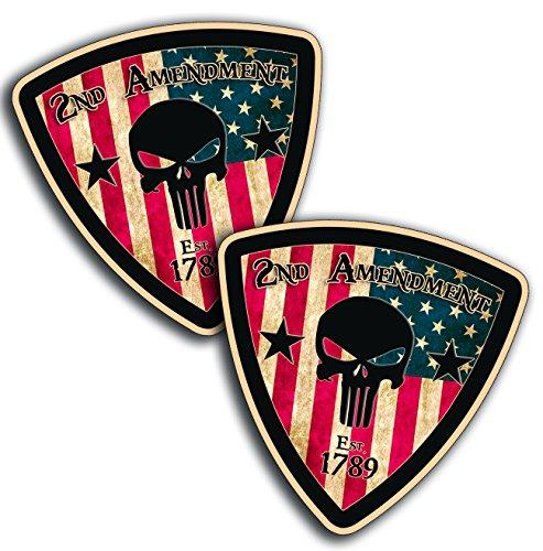 Rustic Amendment Handgun Warning Sticker product image