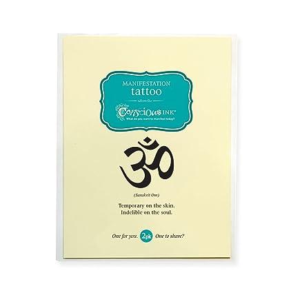Conscious Ink Manifestación Tatuaje 2-Pack OM (sánscrito) (juego ...