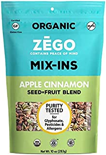product image for ZEGO Foods Seed + Fruit Mix-Ins, Trail Mix, Non GMO, Organic, Vegan, Gluten Free, 10oz (Apple Cinnamon)