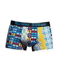 MNBS Men's Plaids and Checks Pattern Funny Boxer Underwear