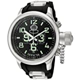 Invicta Men's 7237 Russian Diver Quinotaur Chronograph Black Dial Black Rubber Watch