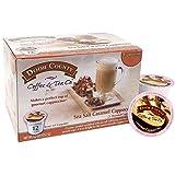 Door County Coffee, Single-Serve Cups for Keurig Brewers, Sea Salt Caramel Cappuccino, 12 Count