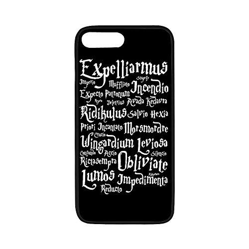 (Personalized iPhone 7Plus Hard Shell TPU Rubber Coated Phone Case Cover for iPhone 7 Plus - Harry Potter -i7P1102)