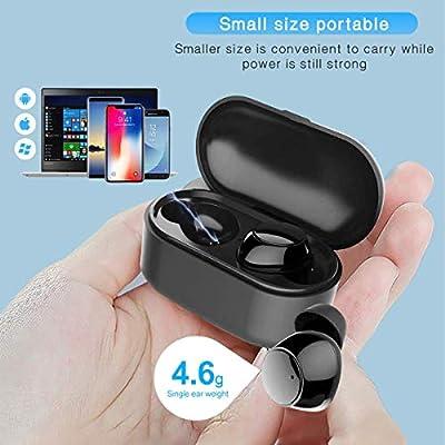 Auriculares Bluetooth V5.0, Auriculares intraurales con Caja de Carga portátil, súper estéreo, Auriculares intraurales Bluetooth, compatibles con Todos los Dispositivos Inteligentes (Black): Amazon.es: Electrónica