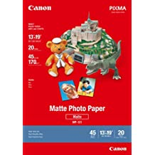 Genuine Canon MP-101, 13 x 19-Inch, A3+ Size, Matte Photo Paper, 20 Sheets/Package