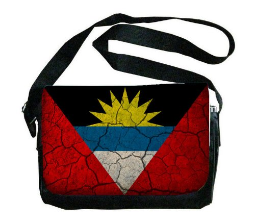 Antigua and Barbuda Flag Crackledデザインメッセンジャーバッグ   B00FMFTXYC