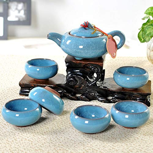 Glass Cut Bowls Antique - Teaware Sets - Kung Fu Tea Sets 1pcs Chinese Porcelain Teapot 6pcs Teacup Home Office Purple Sand Drinkware - Sets Teaware Teaware Sets Porcelain Antique Teapot Christmas Chinese Glass Bowl Cera