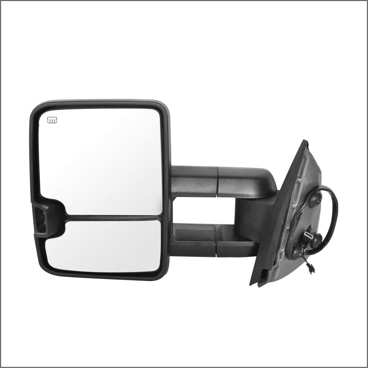 W//HEATED,W//AMBER SIGNAL,CHROME Perfit Zone Towing Mirrors Replacement Fit for 2007-2014 SILVEADO//GMC SIERRA PAIR SET