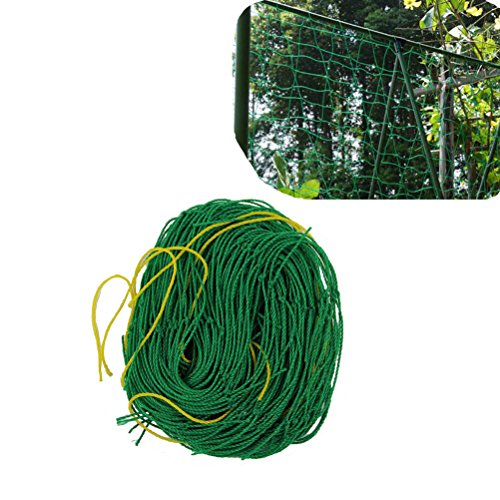 Amgate Nylon Trellis Netting Plant Support for Climbing Plants, Vine and Veggie Trellis Net, 5.9Ft x 8.85Ft