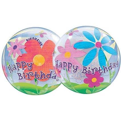 Amazon Happy Birthday Flowers Bubble Balloon 22 Qualatex Toys