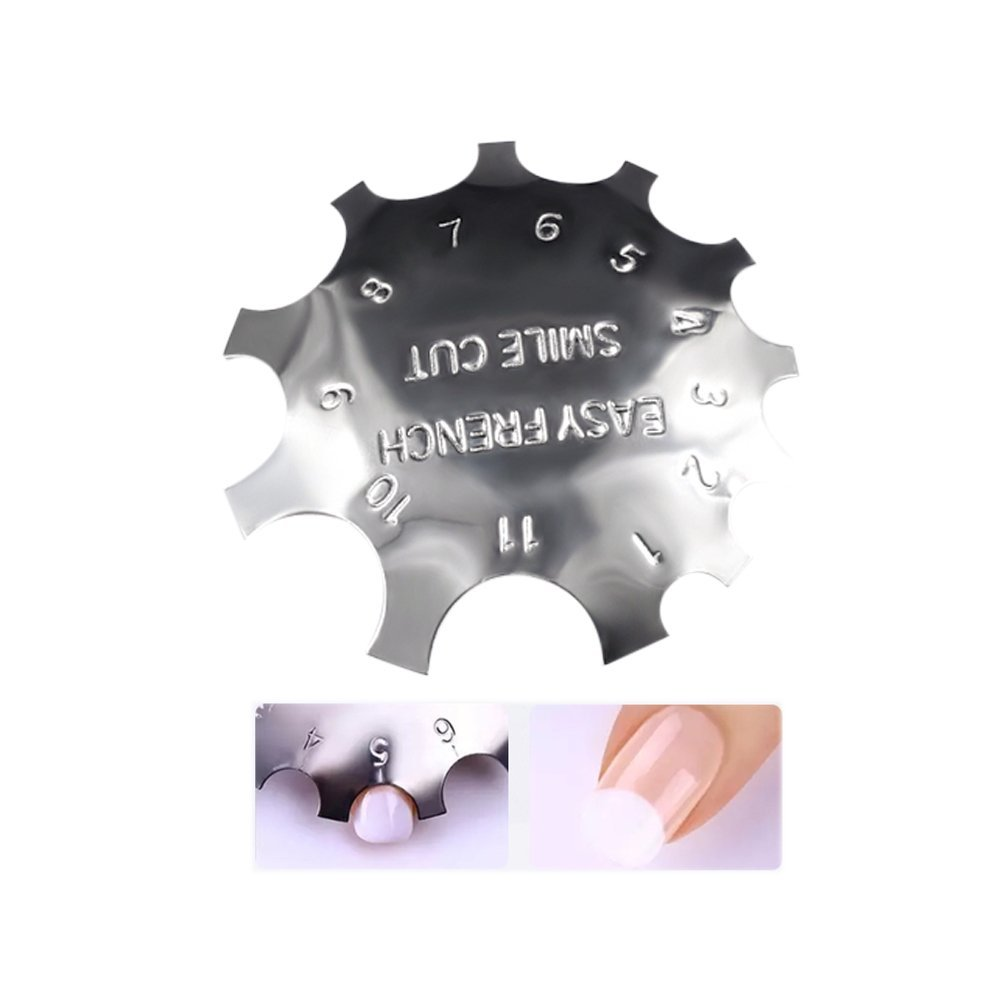 Clest F& H Nail Cutter French Style Nail Art Plate Model Line Manicure Nail Form