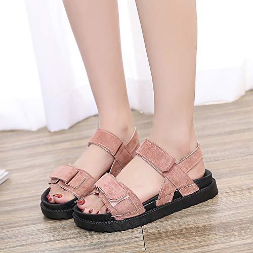 De Antidérapantes Femme Ouvert Chaussures Rose Pour Plage Bout Décontractées sandales Sandales Femme Femmes chaussures D'été nqqrPX6O