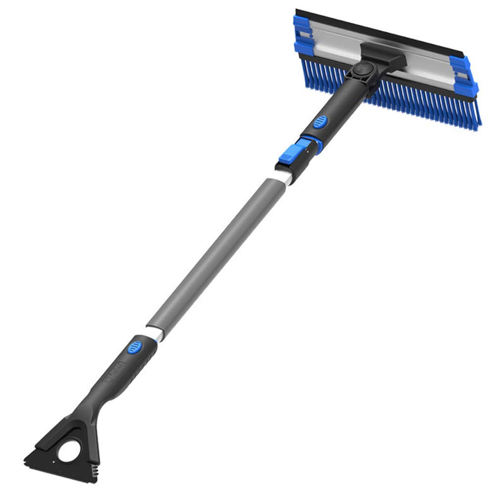 34.6 to 48.8 Extendable Auto Snow Removal Broom with Ice Scraper Strengthened Aluminum Alloy Hand Rod and Foam Grip Car Snow Brush and Ice Scraper Removable Use
