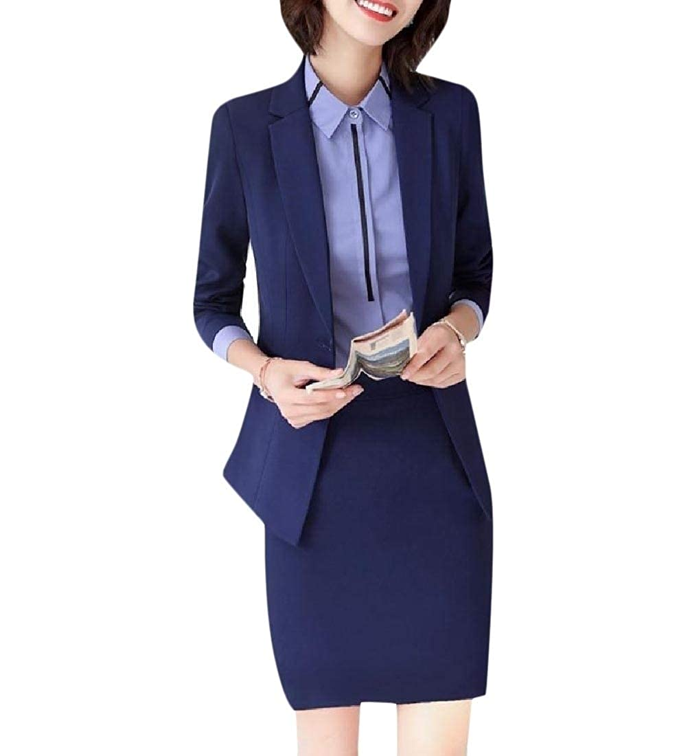 YUNY Womens Blazer 1 Button 2 Piece Set Wear to Work Casual Suit Three 2XL
