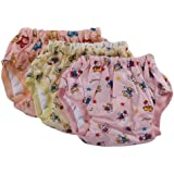 Tiny Care Baby Large Panty Padded Inside Cotton Outside Plastic Printed (Multi color)