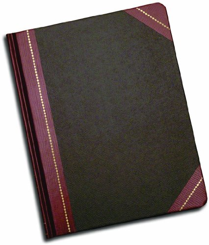 Adams Record Ledger (Adams Record Ledger,7.63 x 9.63 Inches, Black Cover with Maroon Spine, 5 Squares per Inch, 150 Pages (ARB79R150))