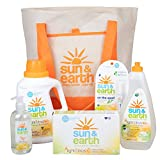 Natural Cleaning Supplies Set - Non-Toxic, Hypoallergenic Laundry Detergent, Dryer Sheets, Hand Soap, Dish Soap, and Stain Pen - Housewarming, Yoga Studio, Dorm Room