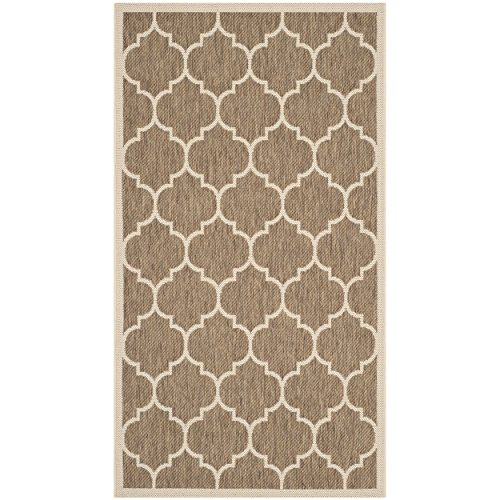 Safavieh Courtyard Collection CY6914-242 Brown and Bone Indoor/ Outdoor Area Rug (2' x 3'7