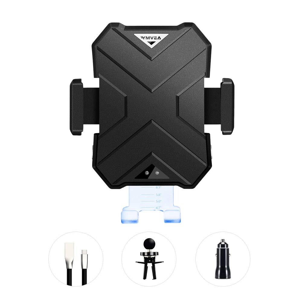 YMVEA Wireless Fast Charging Mobile car Phone Bracket Intelligent Recognition of Wireless Charging Program for IPhone, Samsung and Android Mobile Phones, in line with QI Standards by YMVEA